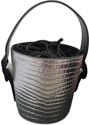 Les Petits Joueurs Silver Leather Handbags