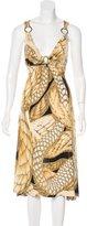 Just Cavalli Metallic Midi Dress