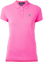 Polo Ralph Lauren embroidered logo polo shirt - women - Cotton - L