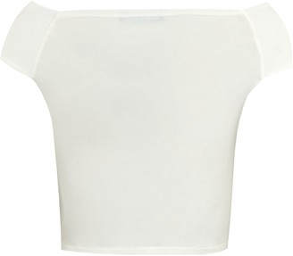 New Look Cameo Rose Ruched Bardot Crop Top