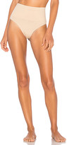 Yummie by Heather Thomson Seamlessly Shaped Ultralight Nylon Thong in Beige. - size M/L (also in S/M)