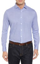 Thomas Dean Men's Herringbone Knit Sport Shirt
