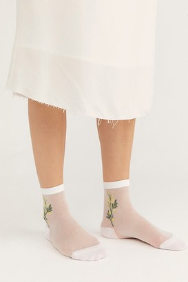 Hansel from Basel Mimosa Sheer Short Crew Socks