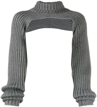 Peter Do Cropped Ribbed-Knit Jumper