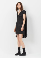 Maison Margiela Black Patch Pocket Short Sleeve Dress