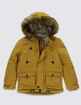 Marks and Spencer Faux Fur Hooded Parka Jacket (1-7 Years)