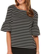 Rafaella Petites Petite Yarn Dyed Striped Top