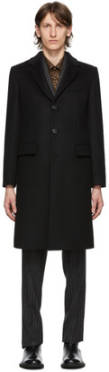 Burberry Black Wool Cashmere Hawkhurst Coat
