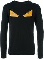 Fendi Bag Bugs longsleeved T-shirt - men - Cotton/Lamb Skin - 50