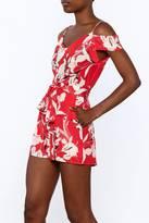 Yumi Kim Red Floral Silk Romper