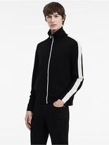 Calvin Klein Contrast Stripe Zip Cardigan