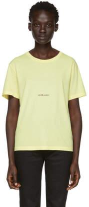 Saint Laurent Yellow Rive Gauche Logo T-Shirt
