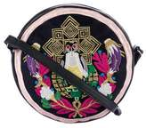 Mary Katrantzou Pochette Circle Pigeon Badge Bag