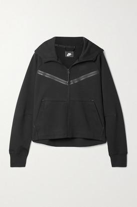 Nike Printed Cotton-blend Jersey Hoodie - Black