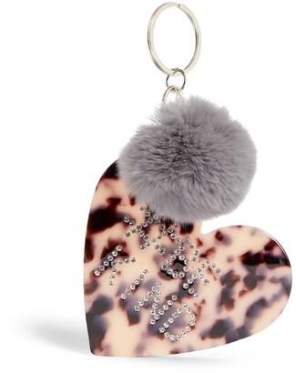 Bari Lynn Leopard Heart Keyring