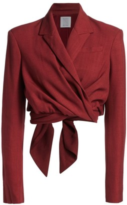 Rosie Assoulin Cropped Tie Jacket