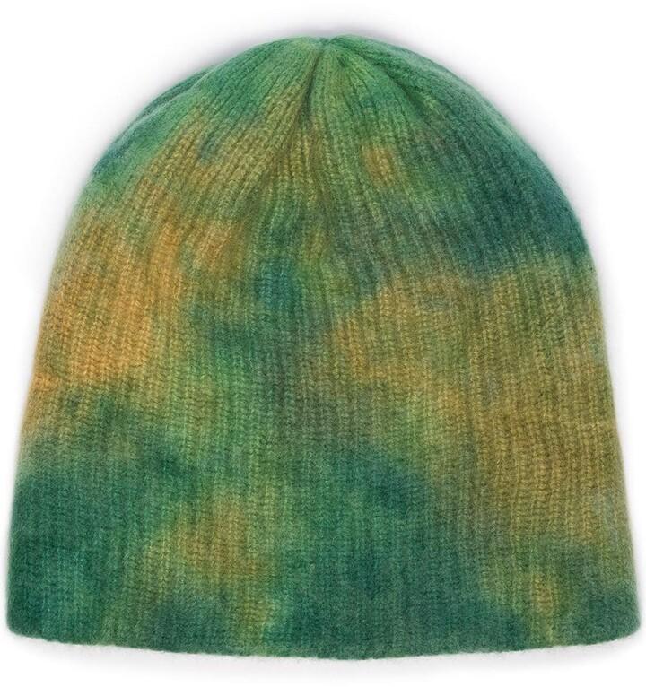 The Elder Statesman Watchman tie-dye beanie hat