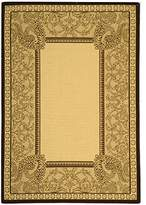 "Safavieh Courtyard Collection CY2965-3401 Natural and Chocolate Indoor/ Outdoor Area Rug (4' x 5'7"")"