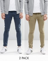 Asos 2 Pack Super Skinny Jeans Save