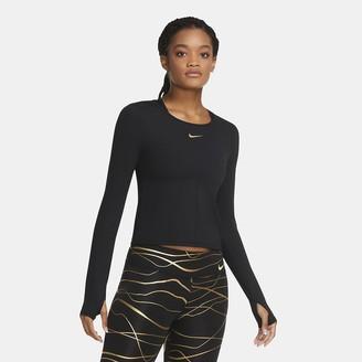 Nike Women's Long-Sleeve Running Top Icon Clash