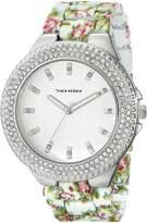 Vernier Women's VNR11167WT Rhinestone-Accented -Tone Watch