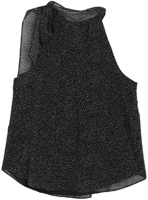 Rachel Roy Collection Dot Print Bow Neck Sleeveless Blouse