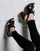 Kaylee Tankus Black Zip Clog