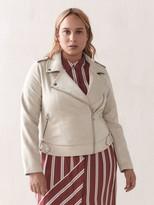 Addition Elle Faux-Suede Moto Jacket