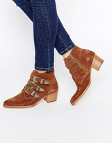 Asos RYDER Suede Buckle Ankle Boots