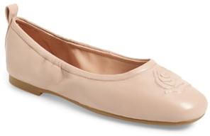 Taryn Rose Rosalie Water Resistant Rose Embossed Ballet Flat