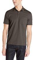 Van Heusen Men's Short-Sleeve Feeder-Stripe Polo Shirt
