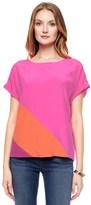Juicy Couture Silk Color Block Top