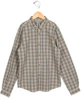 Bonpoint Boys' Checkered Button-Up Shirt w/ Tags