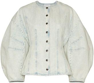 Givenchy cocoon-sleeve denim jacket