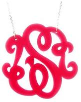Ily Couture Monogram Initial Necklace (1 letter)- Acrylic