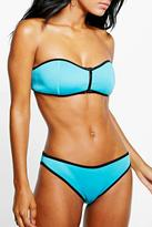 Boohoo Bilbao Neoprene Mix And Match Contrast Brief