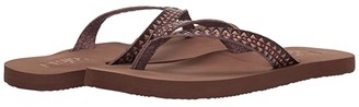 Flojos Deja Embossed Strap Sandal (Brown Multi) Women's Sandals