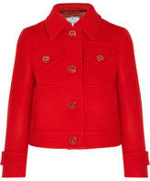 Prada Cropped Wool Jacket - Crimson