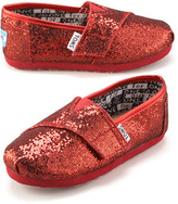 Toms Pink Glitter Shoe, Tiny