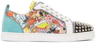 Christian Louboutin Multicolor Louis Junior Spikes Orlato Sneakers