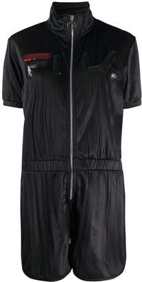 Fila Sequinned Logo Playsuit