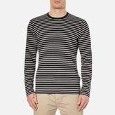 Folk Men's Long Sleeve Stripe TShirt - Grey