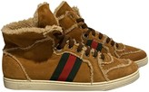Gucci Camel Leather Trainers
