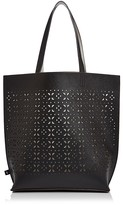 Echo North/South Reversible Laser-Cut Leather Tote