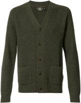 Rrl - patch pockets buttoned cardigan - men - Cashmere - M