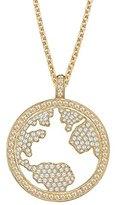 Elli PREMIUM Women's Necklace with Pendant 925 Sterling Silver gold Zirconia MAP Brilliant 0108830315_70 70 CM