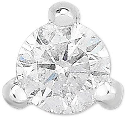 Macy's Diamond Single Stud Earring (1/10 ct. t.w.) in 14k White Gold