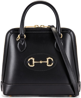Gucci 1955 Horsebit Top Handle Bag in Black | FWRD