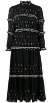 Etoile Isabel Marant arrow embroidered maxi dress