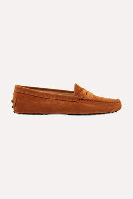 Tod's Gommino Suede Loafers - Camel
